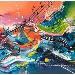 SPRING MUSIC 50×100 cm
