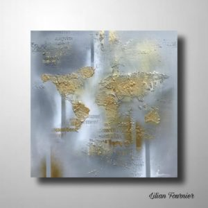 MAPPEMONDE 50X50 CM (CHASSIS 3D)